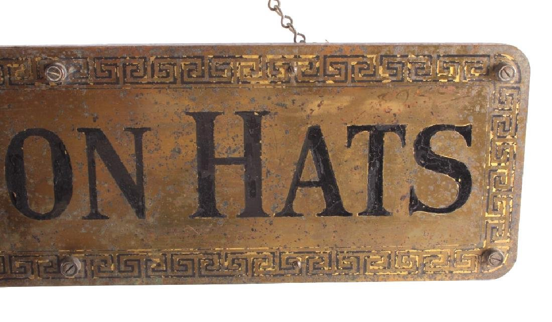 Original Stetson Hats Advertising Sign Circa 1900 - 3