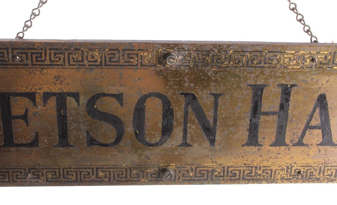 Original Stetson Hats Advertising Sign Circa 1900 - 4