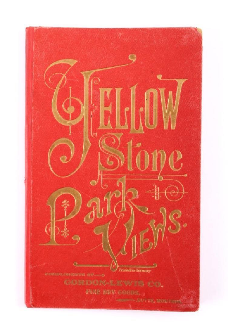 c.1890 Yellowstone Park Views Souvenir Album - 2