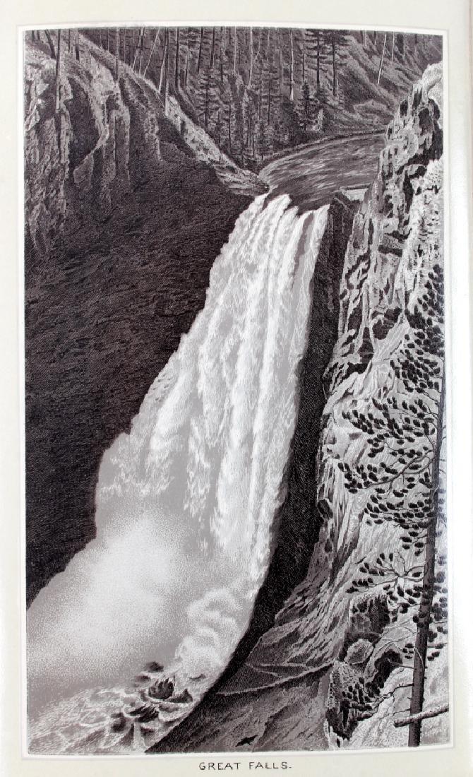 c.1890 Yellowstone Park Views Souvenir Album - 5