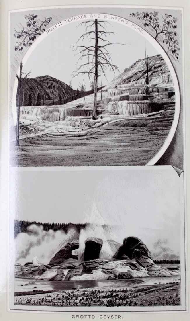 c.1890 Yellowstone Park Views Souvenir Album - 8