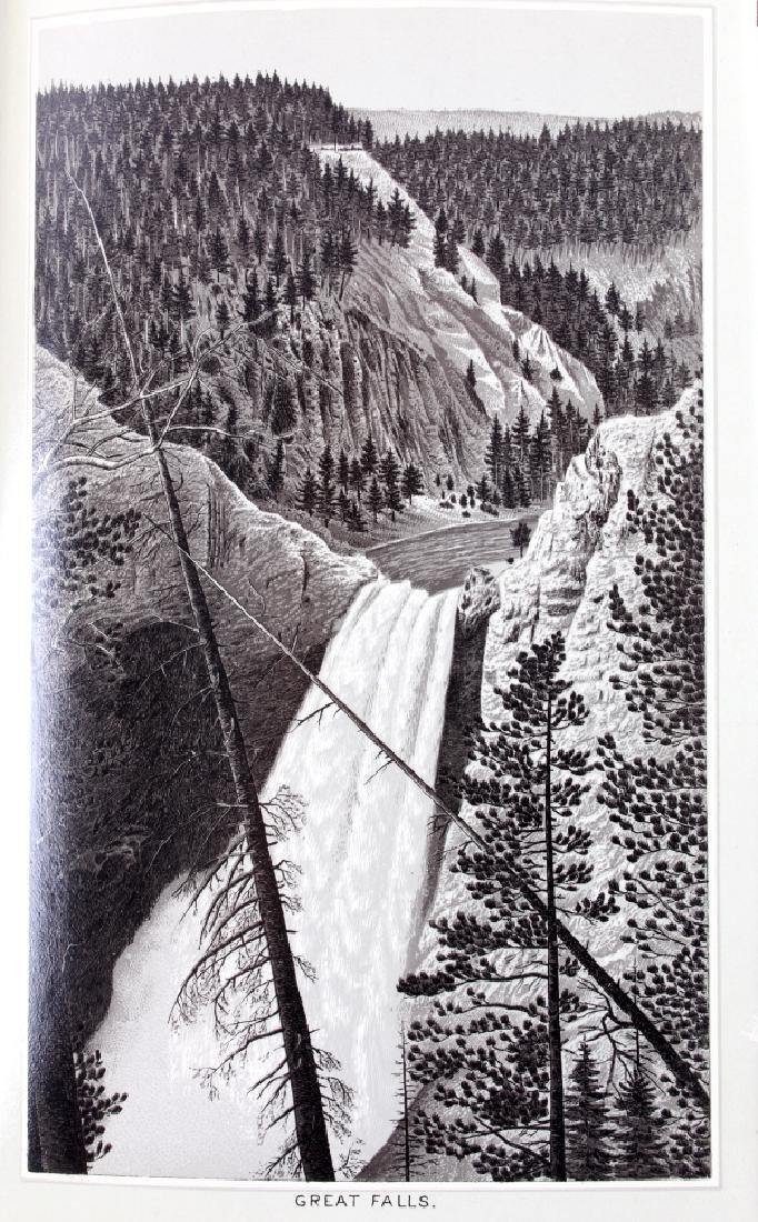 c.1890 Yellowstone Park Views Souvenir Album - 9