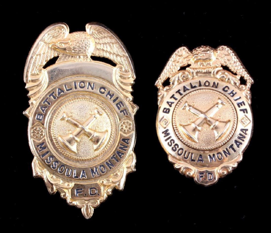 Missoula Montana Fire Department Chief Badges