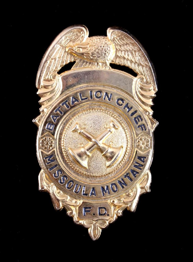Missoula Montana Fire Department Chief Badges - 2