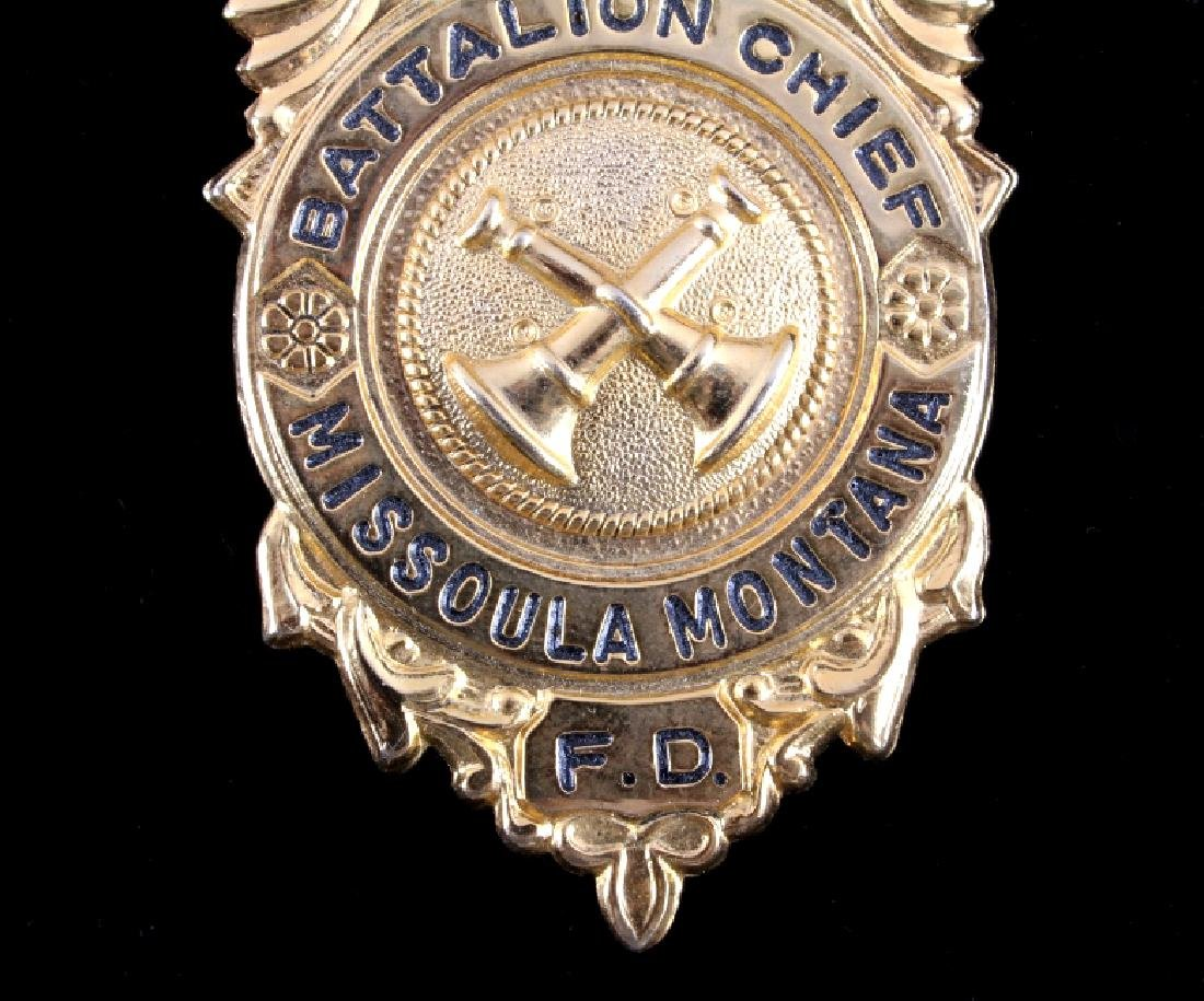 Missoula Montana Fire Department Chief Badges - 4