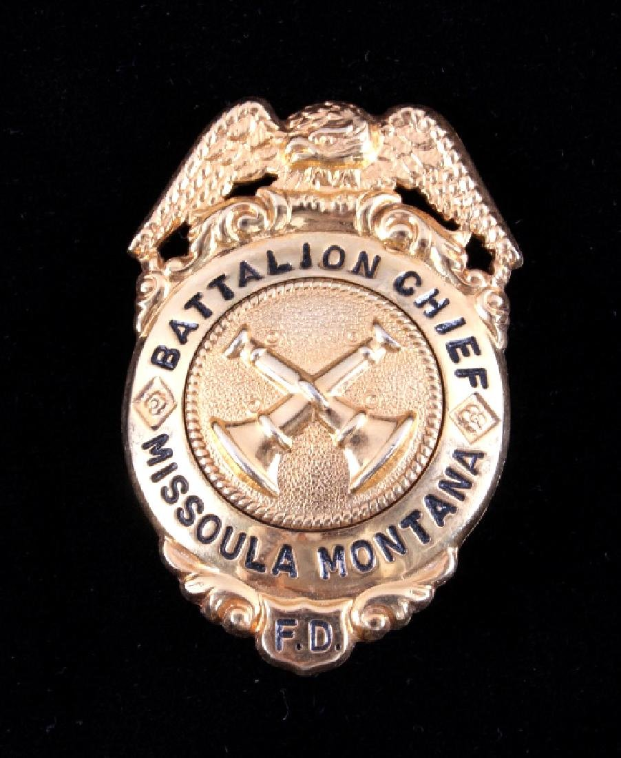 Missoula Montana Fire Department Chief Badges - 5