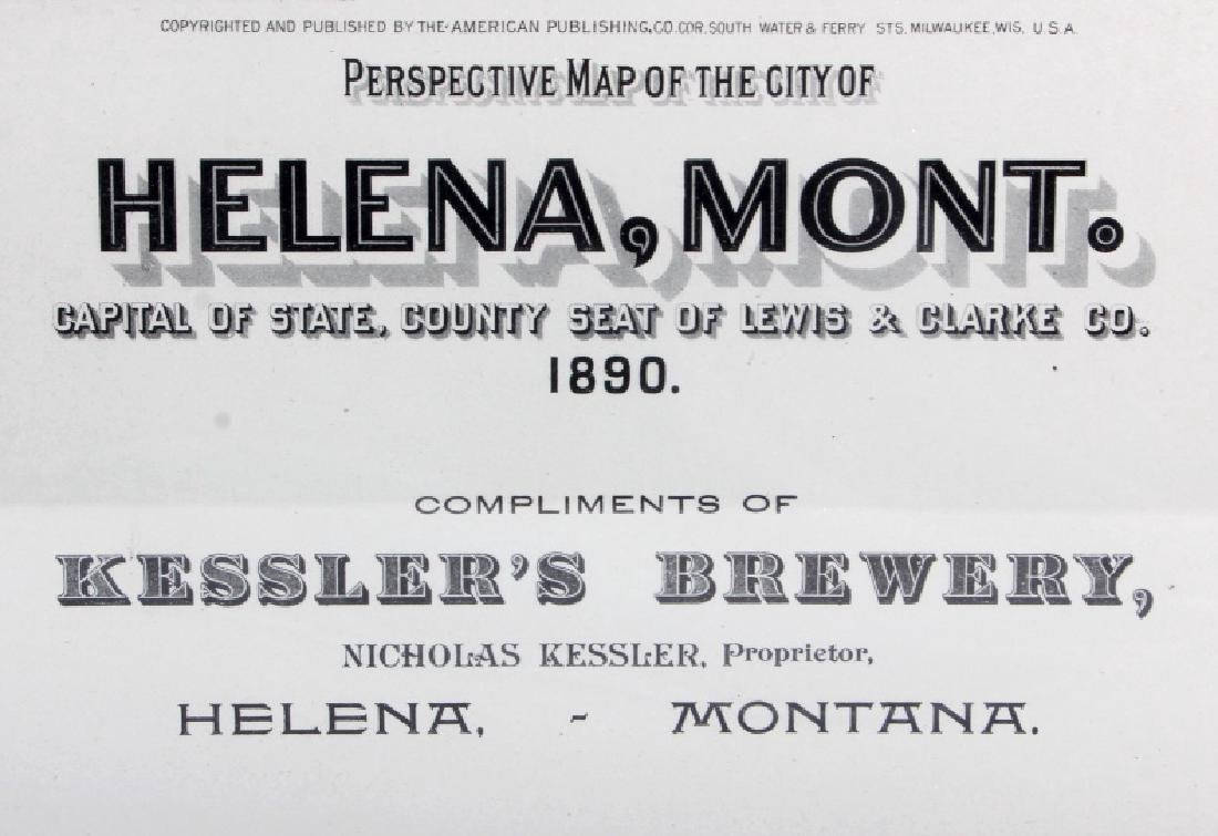1890 Kessler Brewery Map of Helena Montana - 2