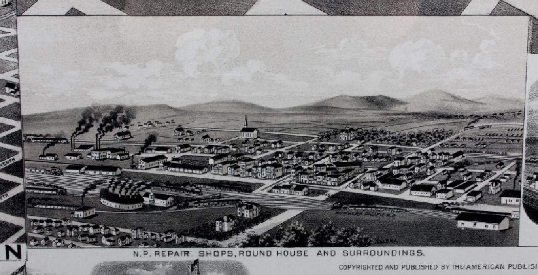 1890 Kessler Brewery Map of Helena Montana - 8