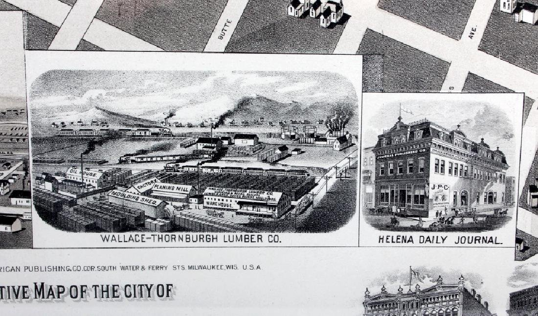 1890 Kessler Brewery Map of Helena Montana - 9
