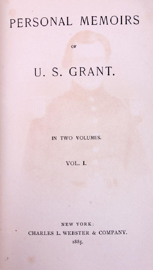 Personal Memoirs of U.S. Grant Leather 1st Edition - 3