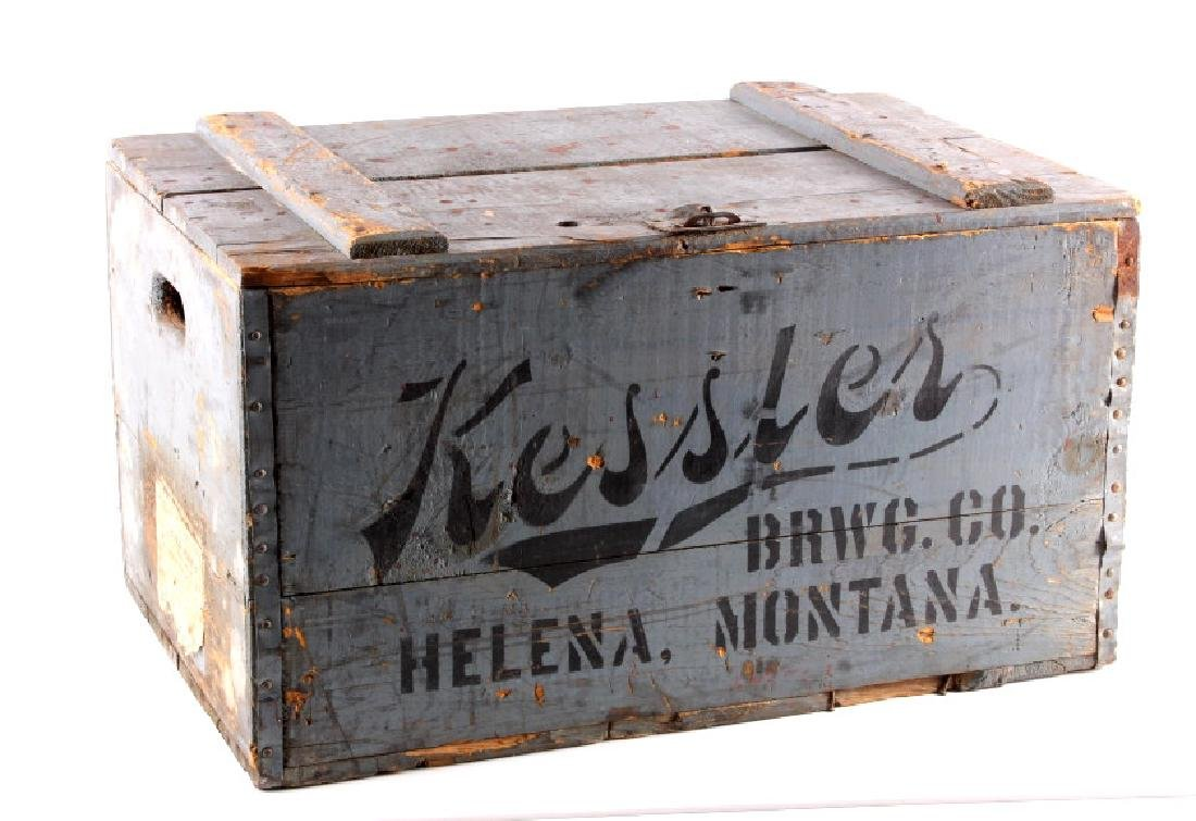 Kessler Brewing Wooden Case from Helena Montana
