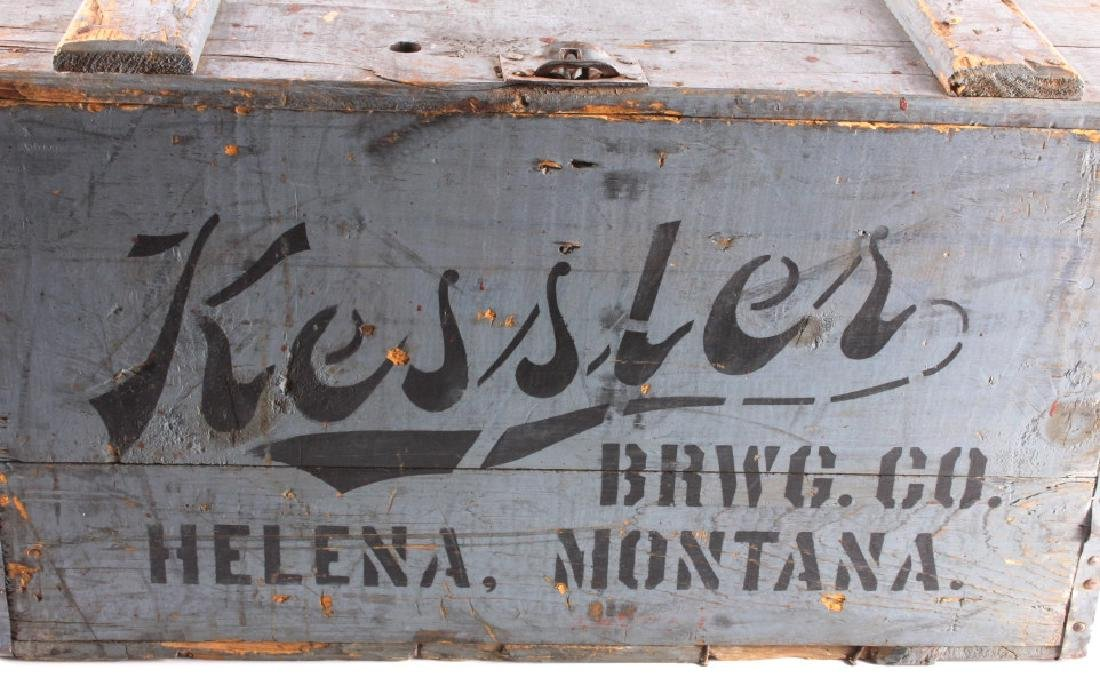 Kessler Brewing Wooden Case from Helena Montana - 2
