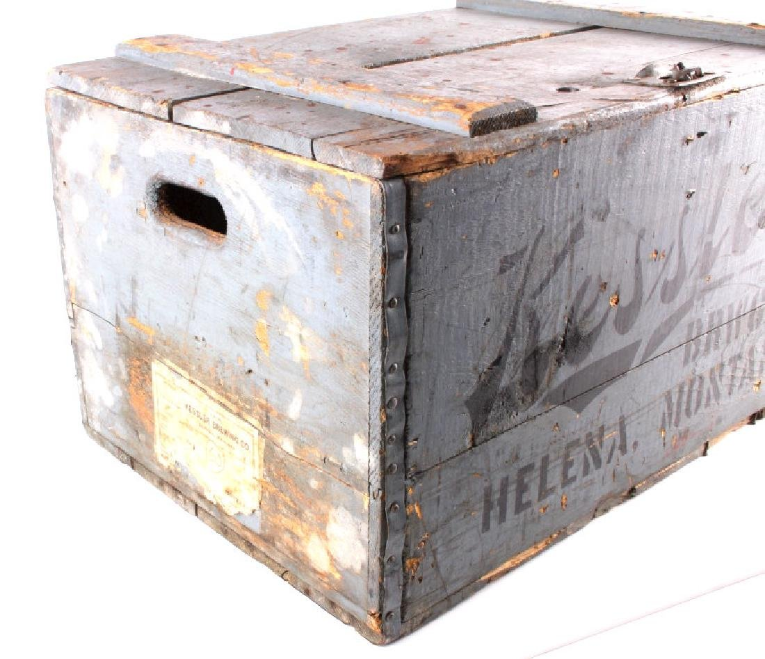 Kessler Brewing Wooden Case from Helena Montana - 3
