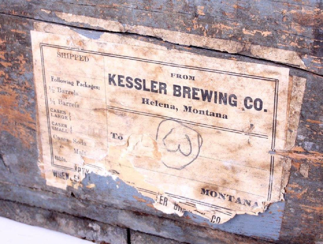 Kessler Brewing Wooden Case from Helena Montana - 4