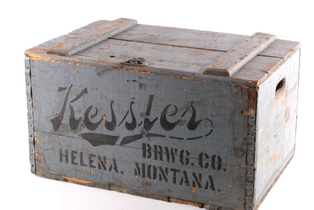 Kessler Brewing Wooden Case from Helena Montana - 5