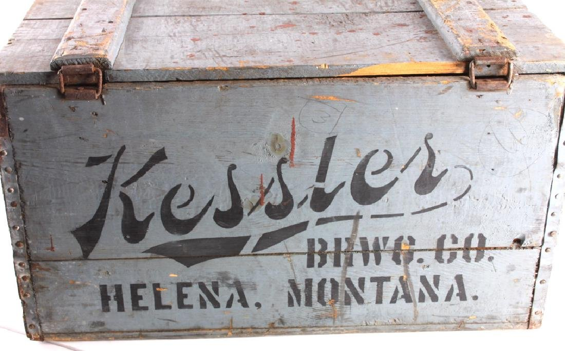 Kessler Brewing Wooden Case from Helena Montana - 8