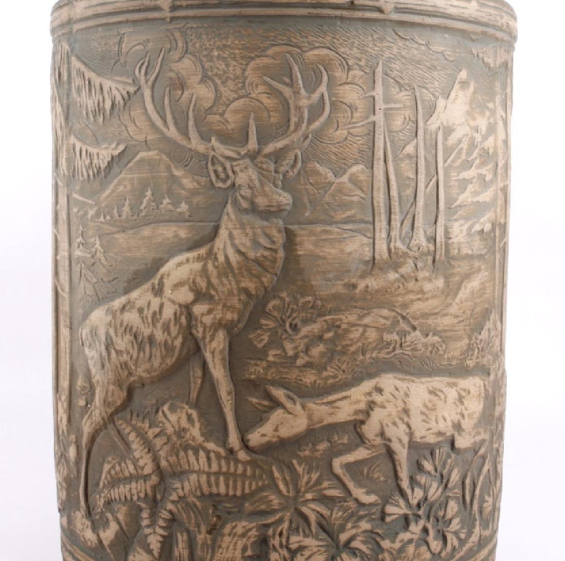Redwing Stoneware Elk Stag Yelloware Crock - 2
