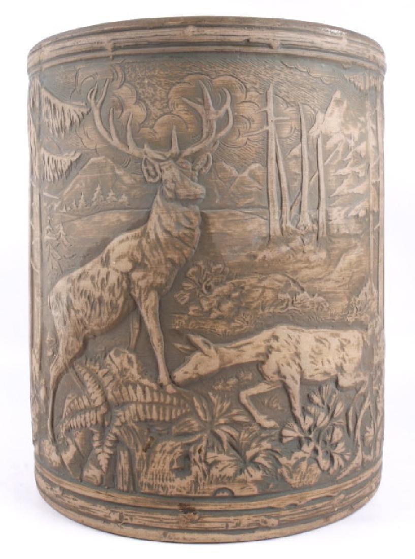 Redwing Stoneware Elk Stag Yelloware Crock - 3