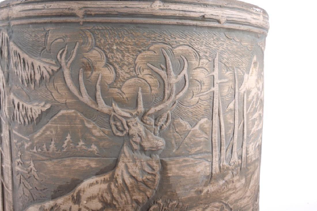 Redwing Stoneware Elk Stag Yelloware Crock - 6