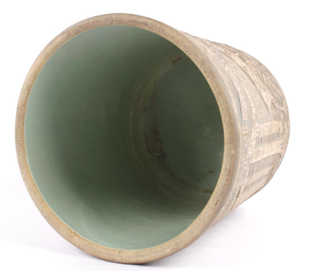 Redwing Stoneware Elk Stag Yelloware Crock - 9