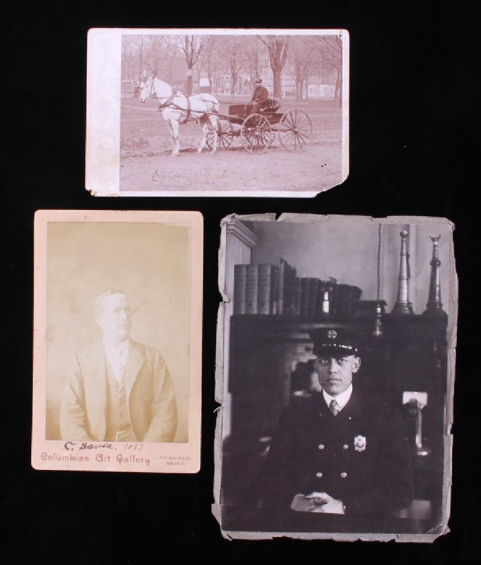1800's Fireman Cabinet Photograph Collection