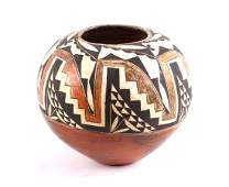 Acoma Pueblo Polychrome Pot Late 19th C