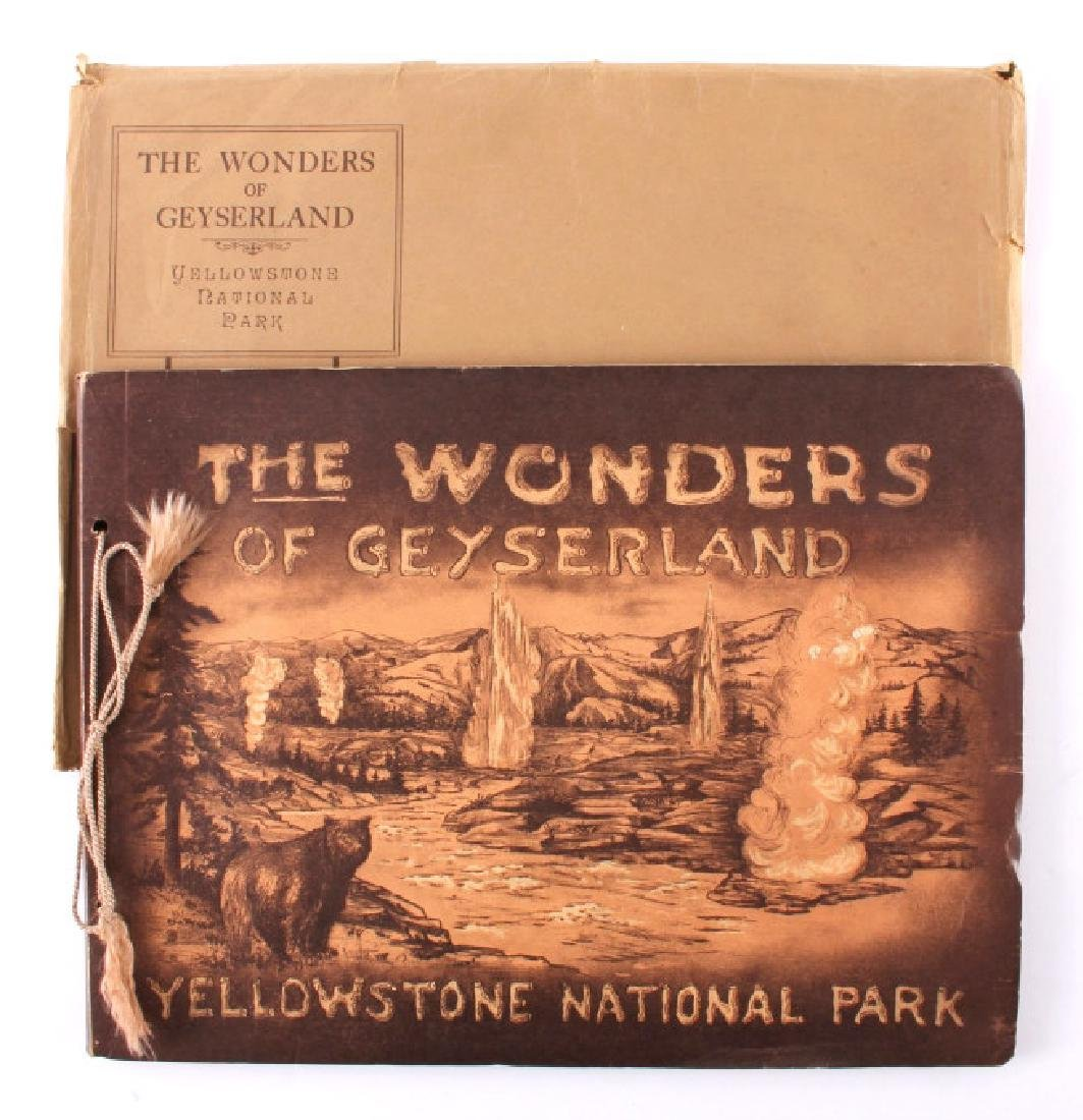 1913 The Wonders of Geyserland Yellowstone Album