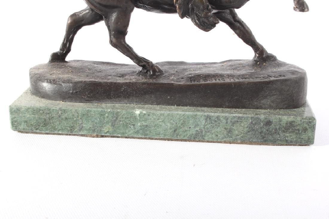 Frederic Remington Bronze Buffalo Signal Bronze - 10