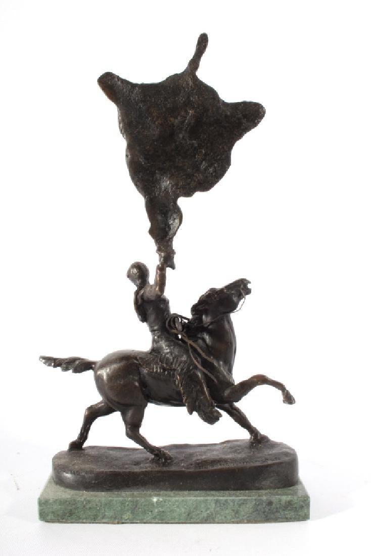 Frederic Remington Bronze Buffalo Signal Bronze - 6