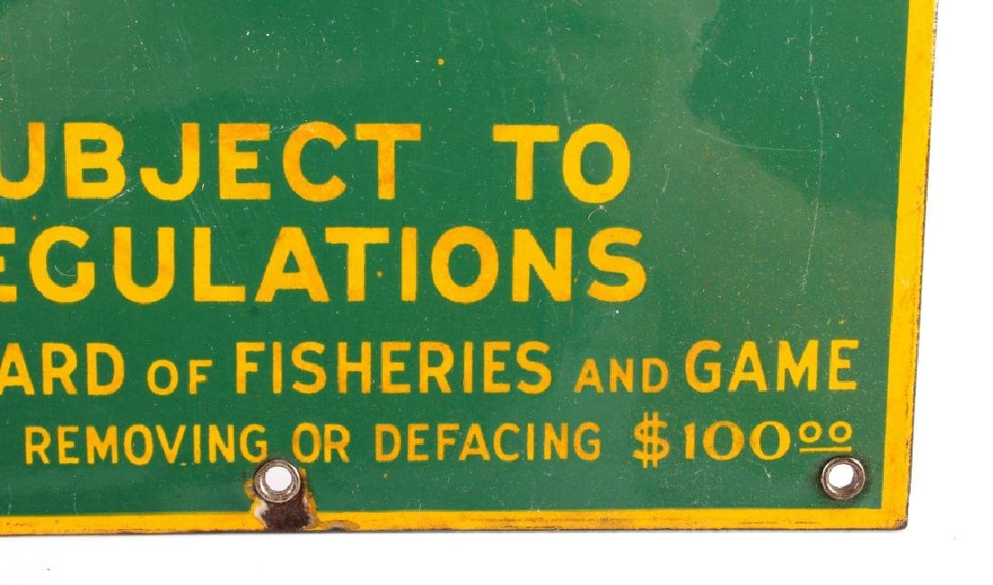 Connecticut Board of Fisheries Porcelain Sign - 10