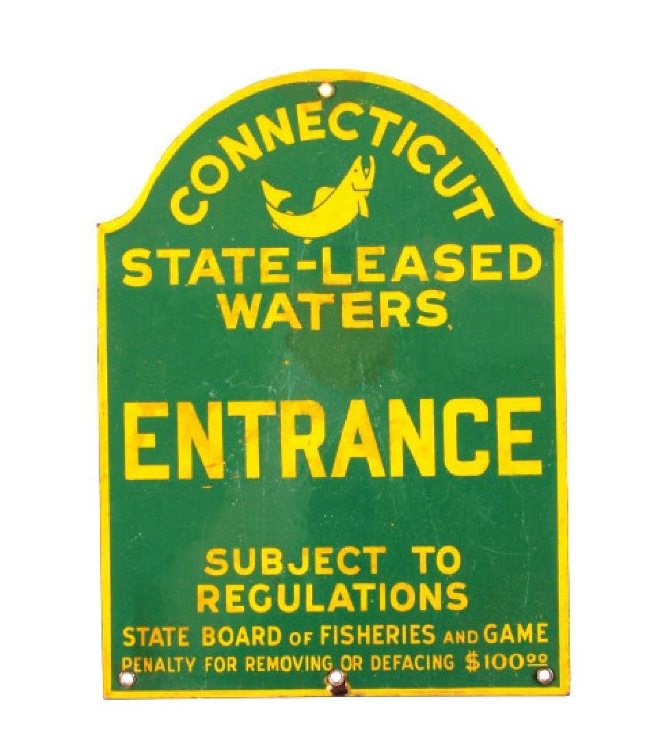 Connecticut Board of Fisheries Porcelain Sign - 11