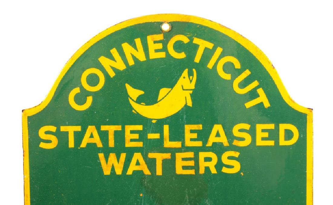 Connecticut Board of Fisheries Porcelain Sign - 2