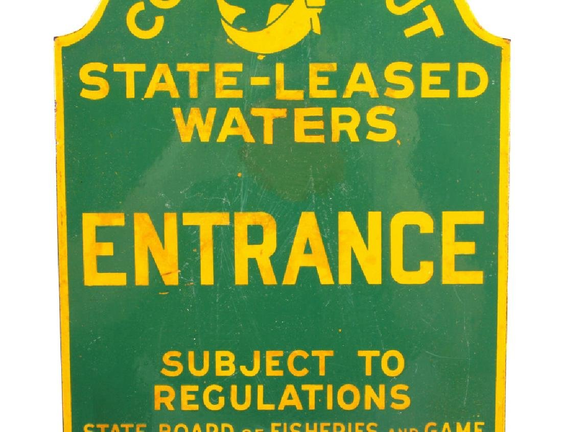 Connecticut Board of Fisheries Porcelain Sign - 3
