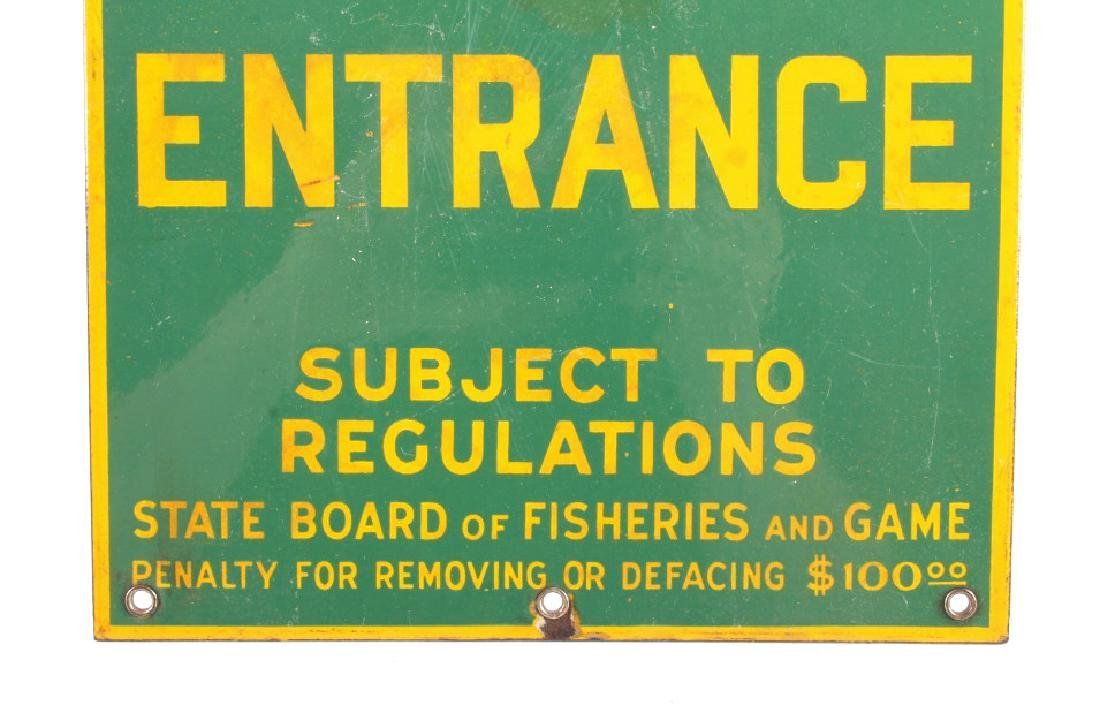 Connecticut Board of Fisheries Porcelain Sign - 4