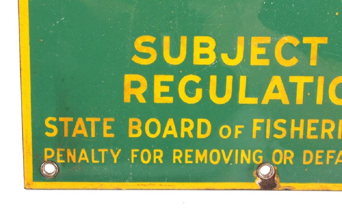 Connecticut Board of Fisheries Porcelain Sign - 9