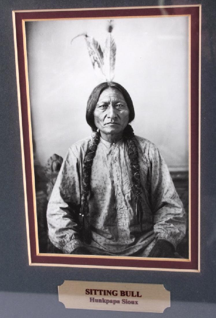Chiefs of The Little Bighorn Framed Display - 10