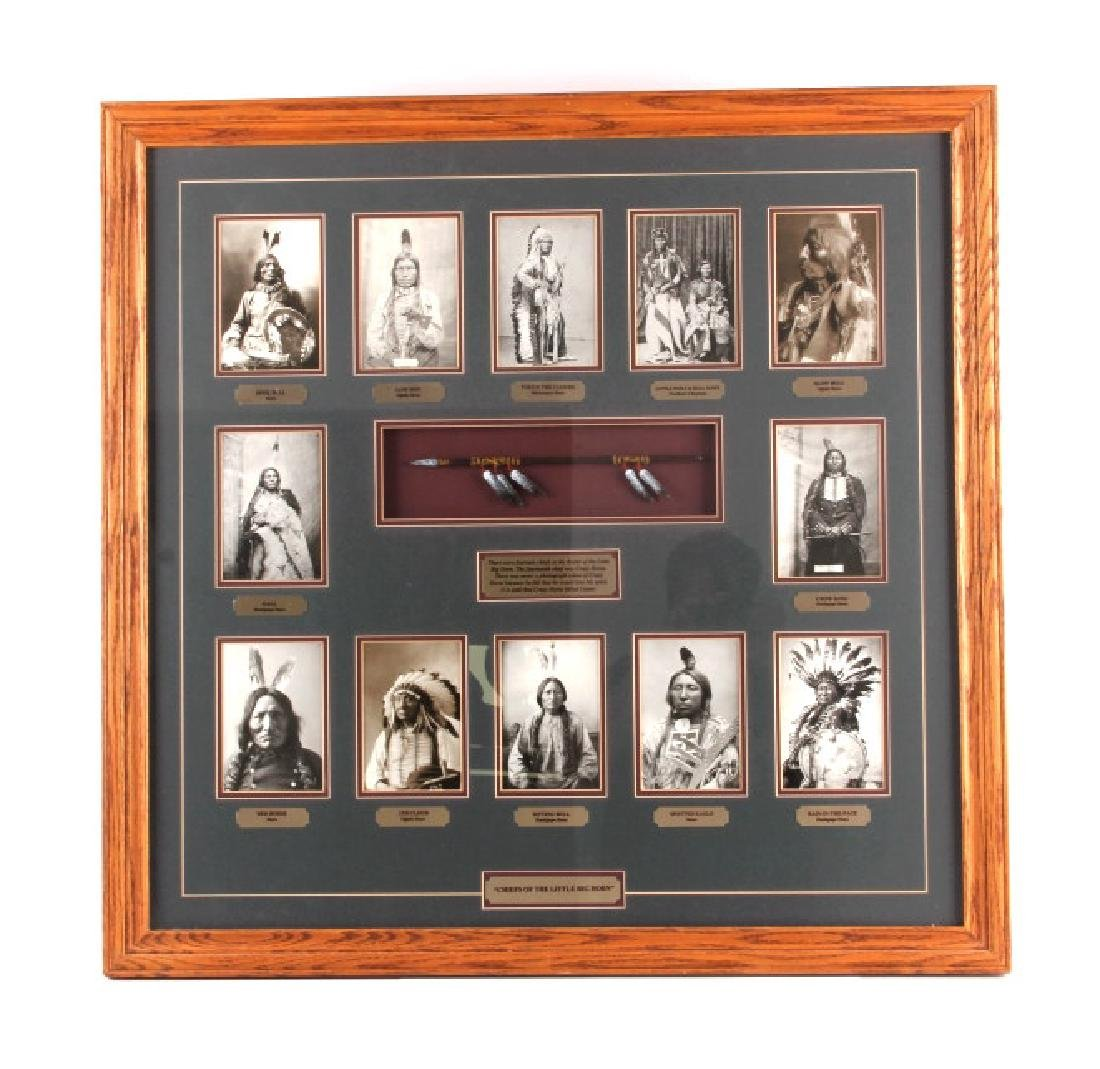 Chiefs of The Little Bighorn Framed Display - 11
