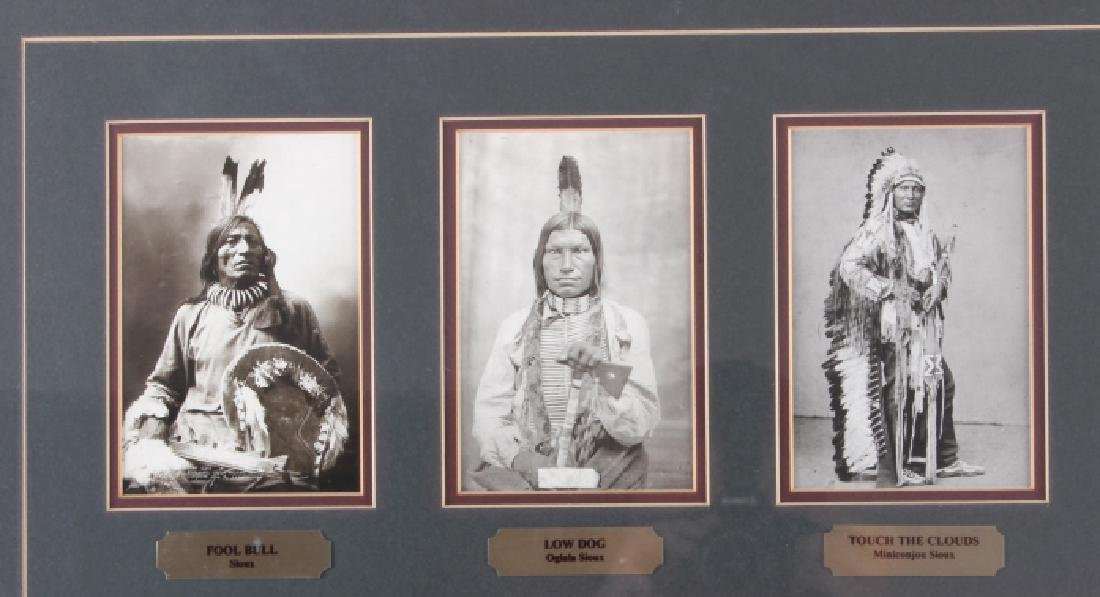 Chiefs of The Little Bighorn Framed Display - 2
