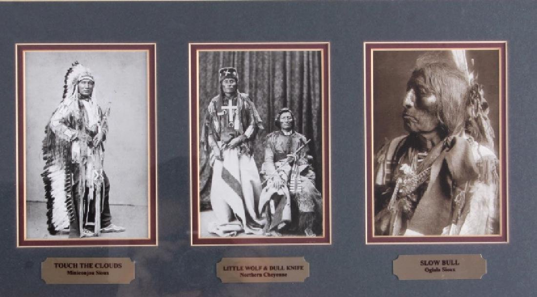 Chiefs of The Little Bighorn Framed Display - 3