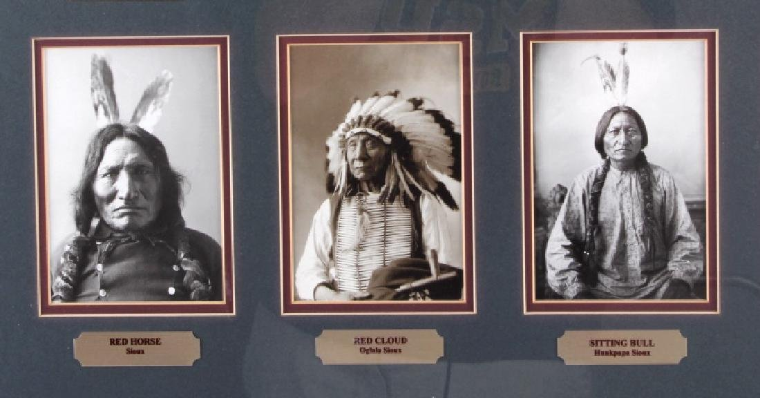 Chiefs of The Little Bighorn Framed Display - 4