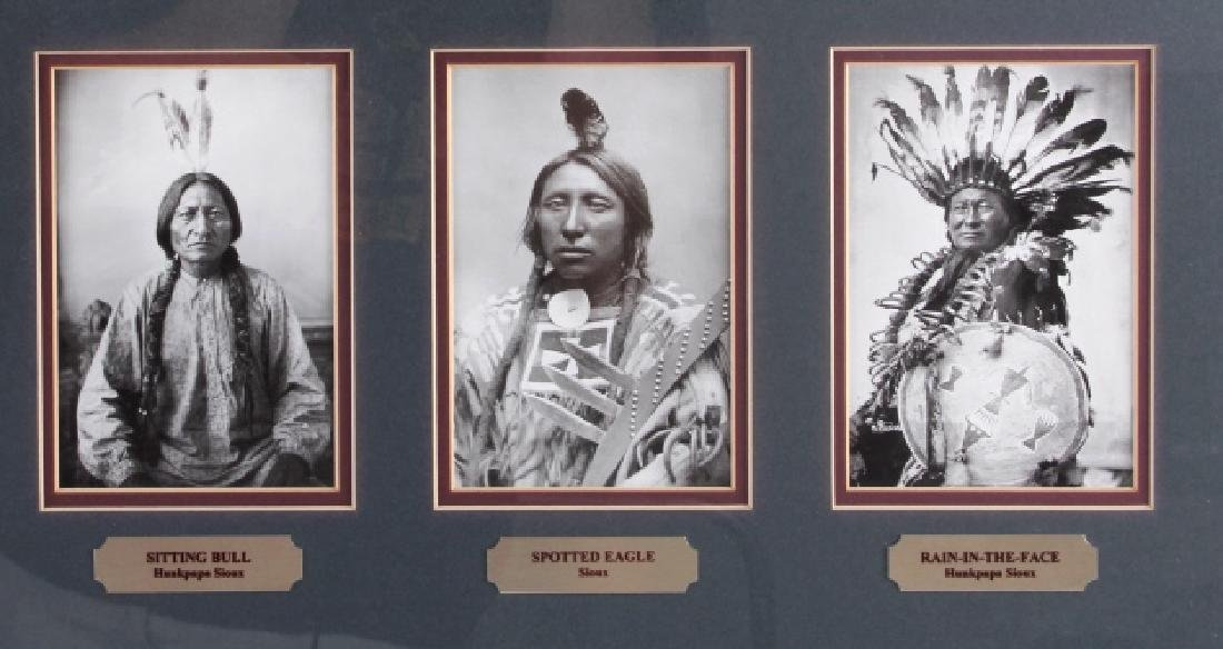 Chiefs of The Little Bighorn Framed Display - 5