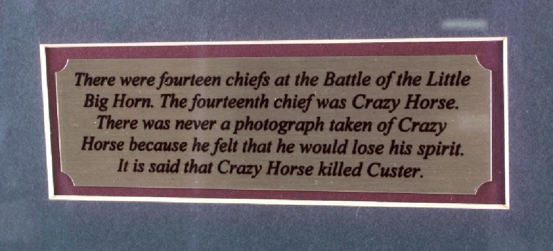 Chiefs of The Little Bighorn Framed Display - 6