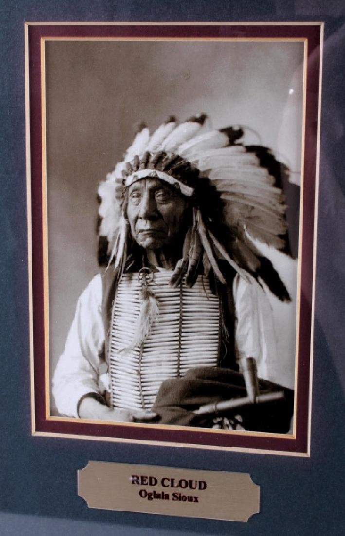 Chiefs of The Little Bighorn Framed Display - 9