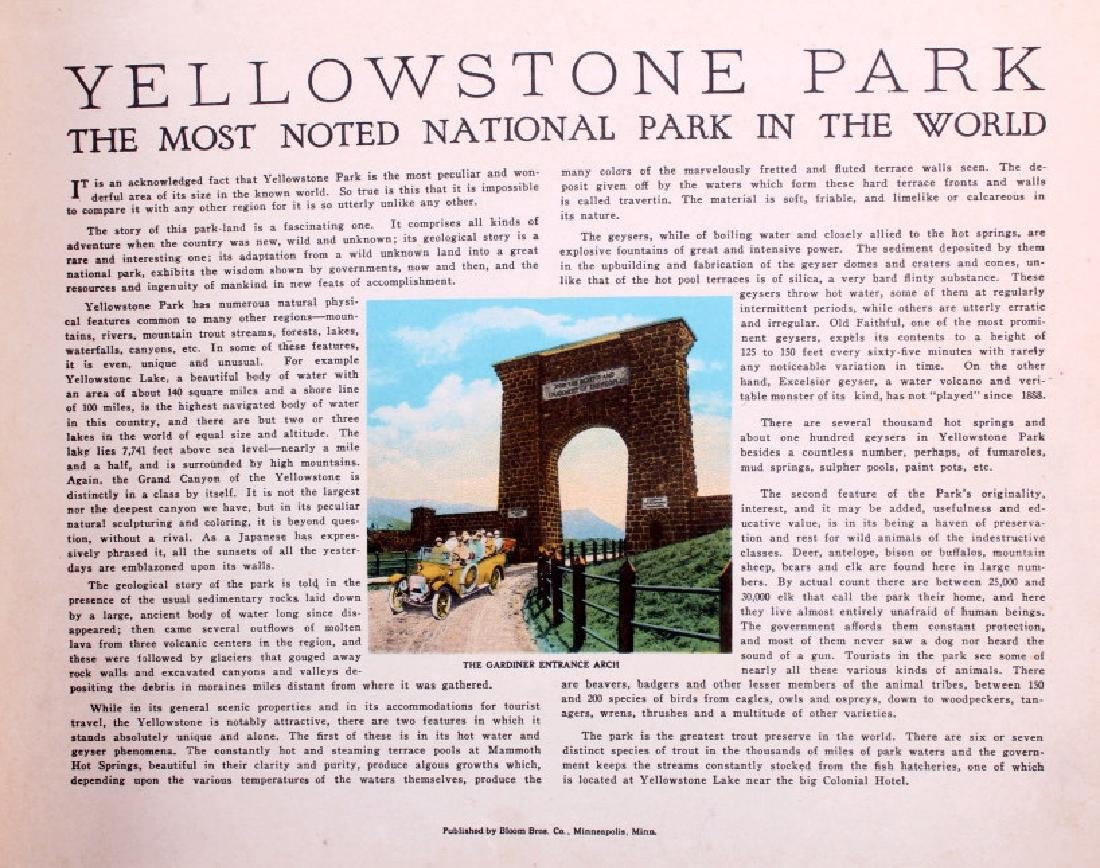 C.1910 Souvenir Album of Yellowstone Park - 2