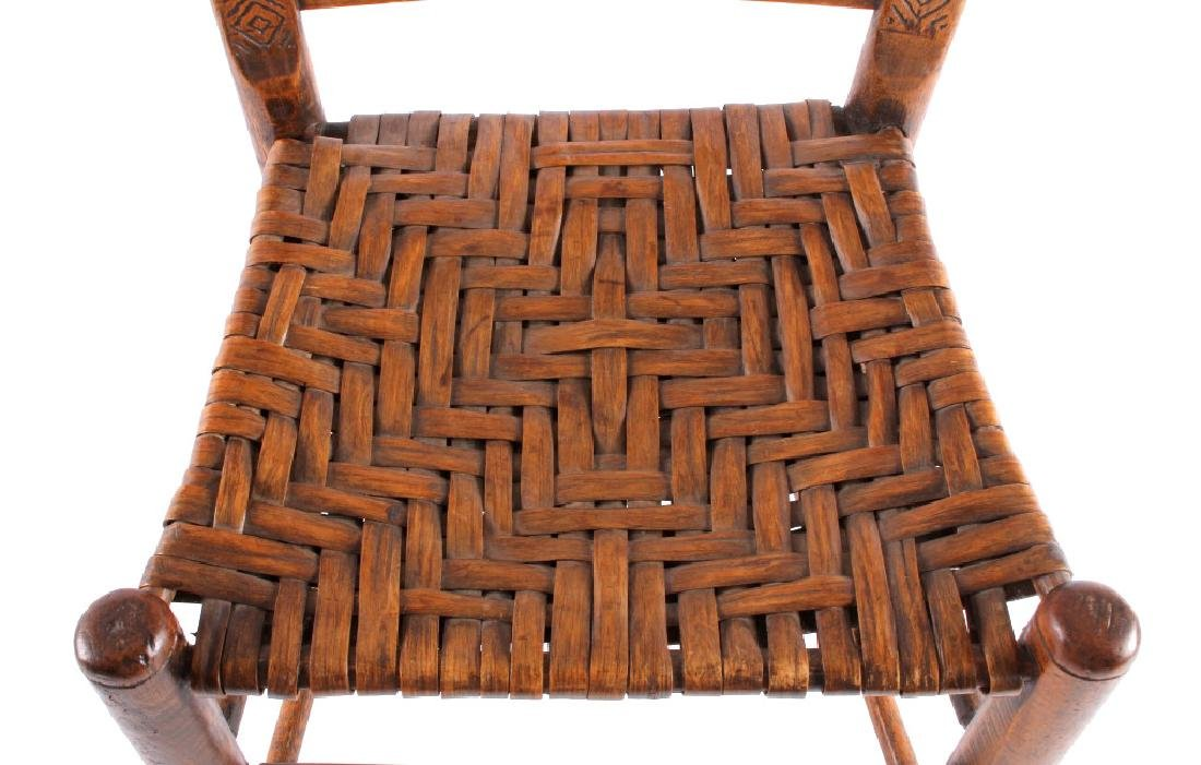 Hopi Native American Indian Carved Effigy Chair - 10