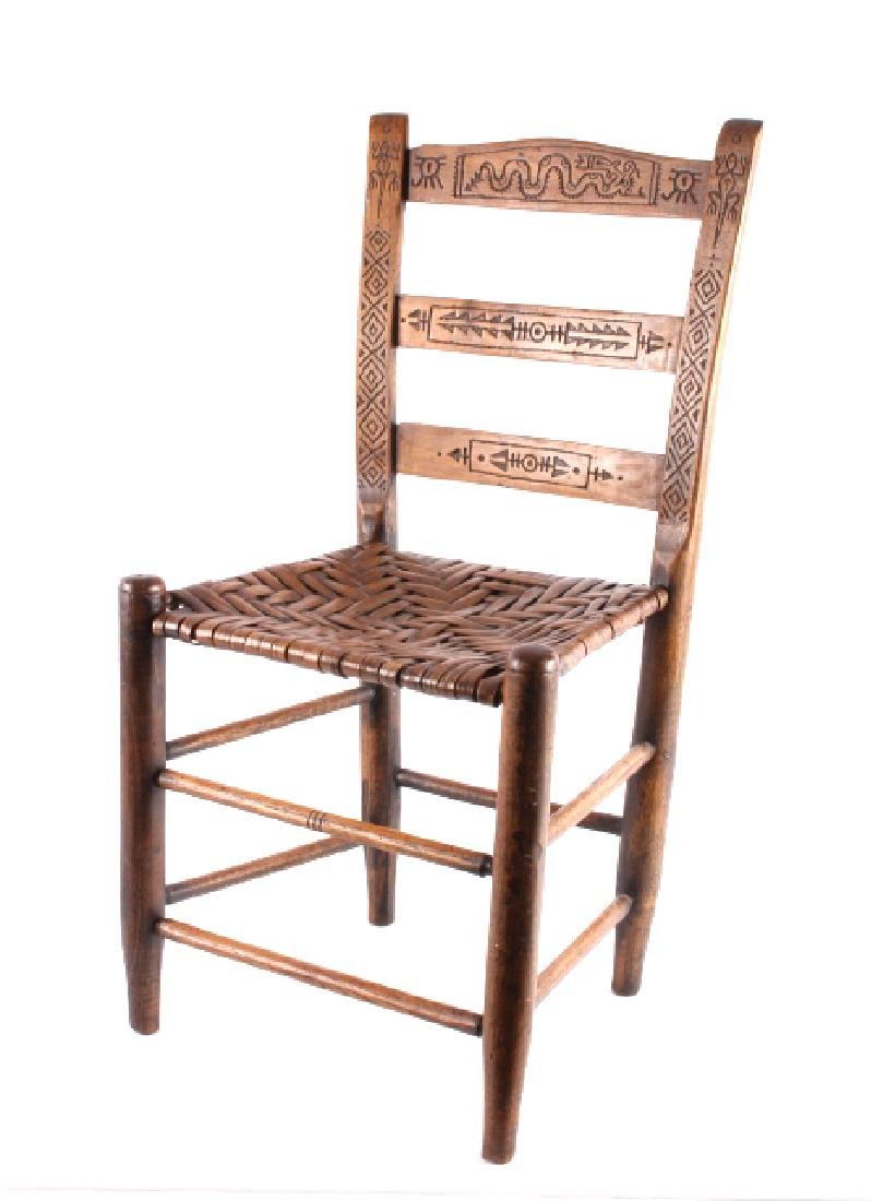 Hopi Native American Indian Carved Effigy Chair - 2