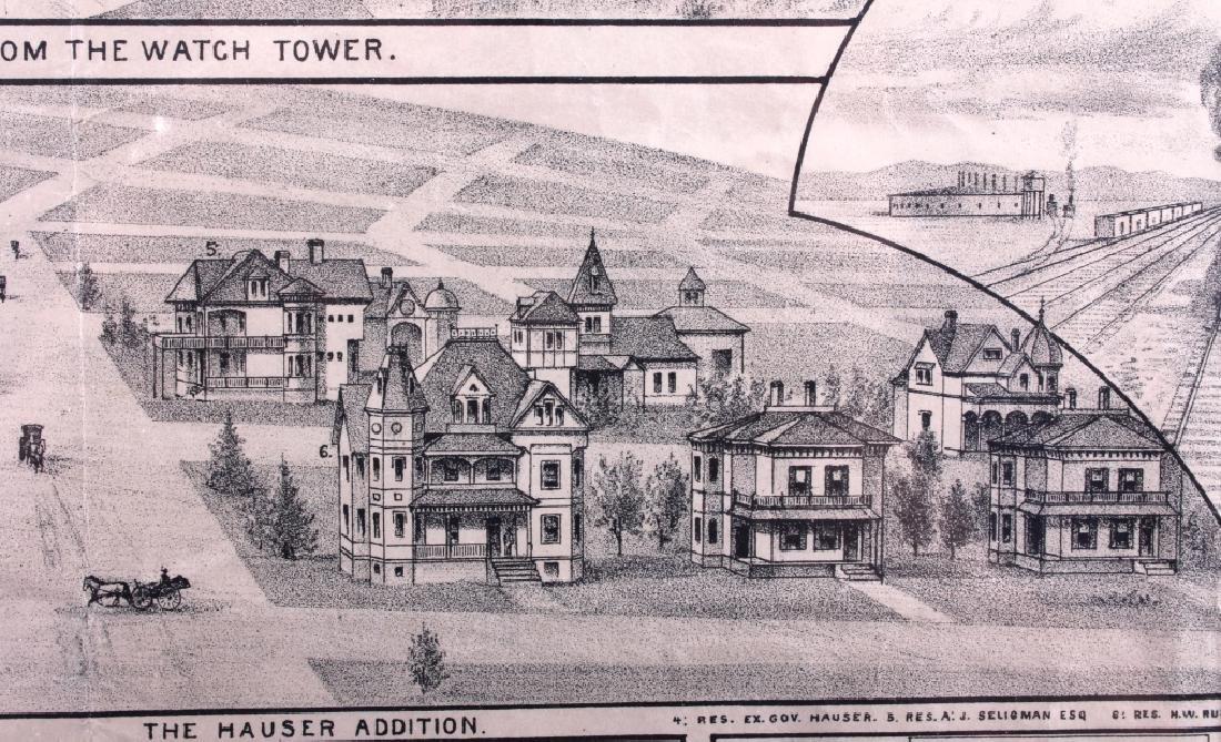 c.1890 Helena Montana Lithograph - 10