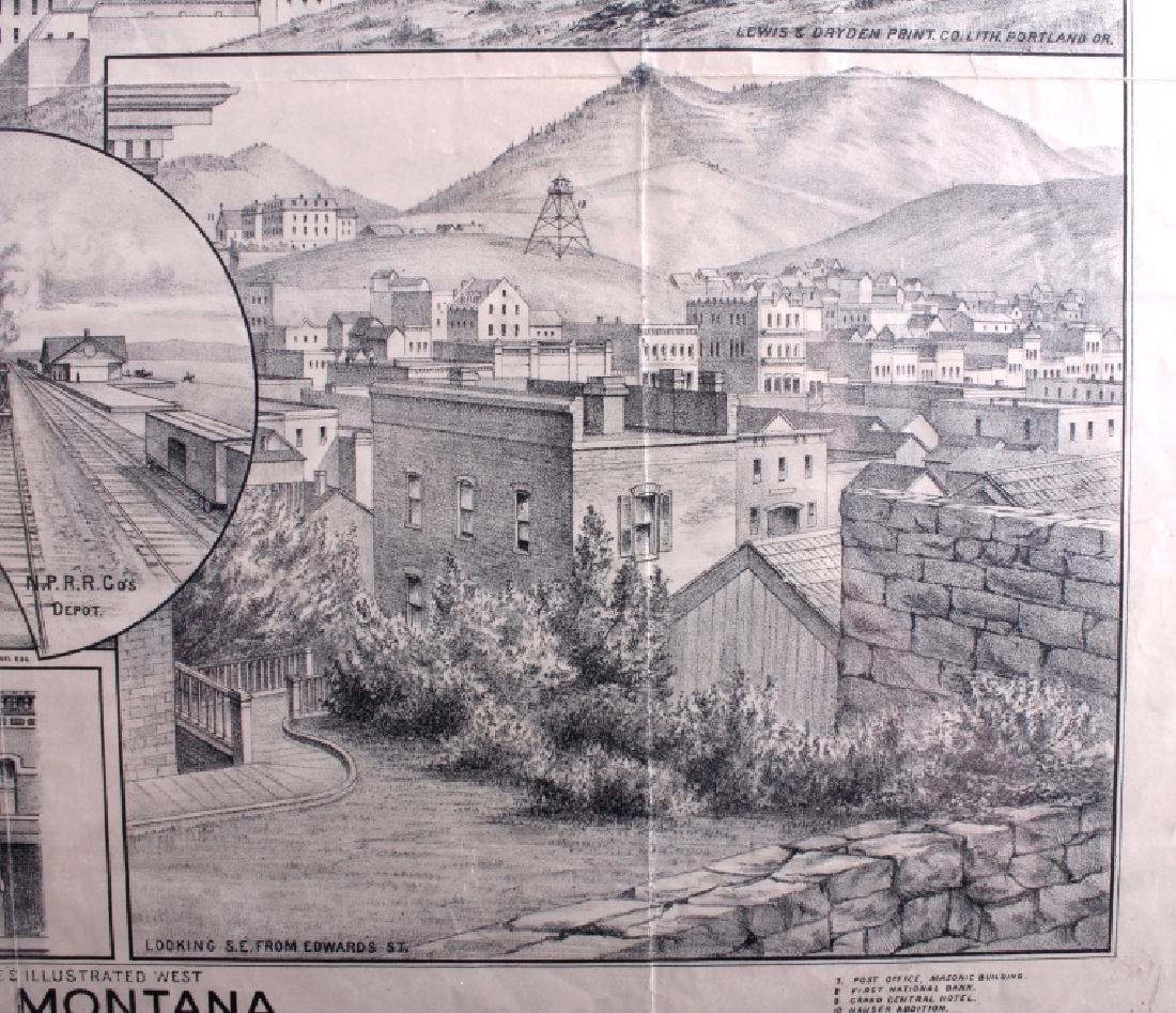 c.1890 Helena Montana Lithograph - 12
