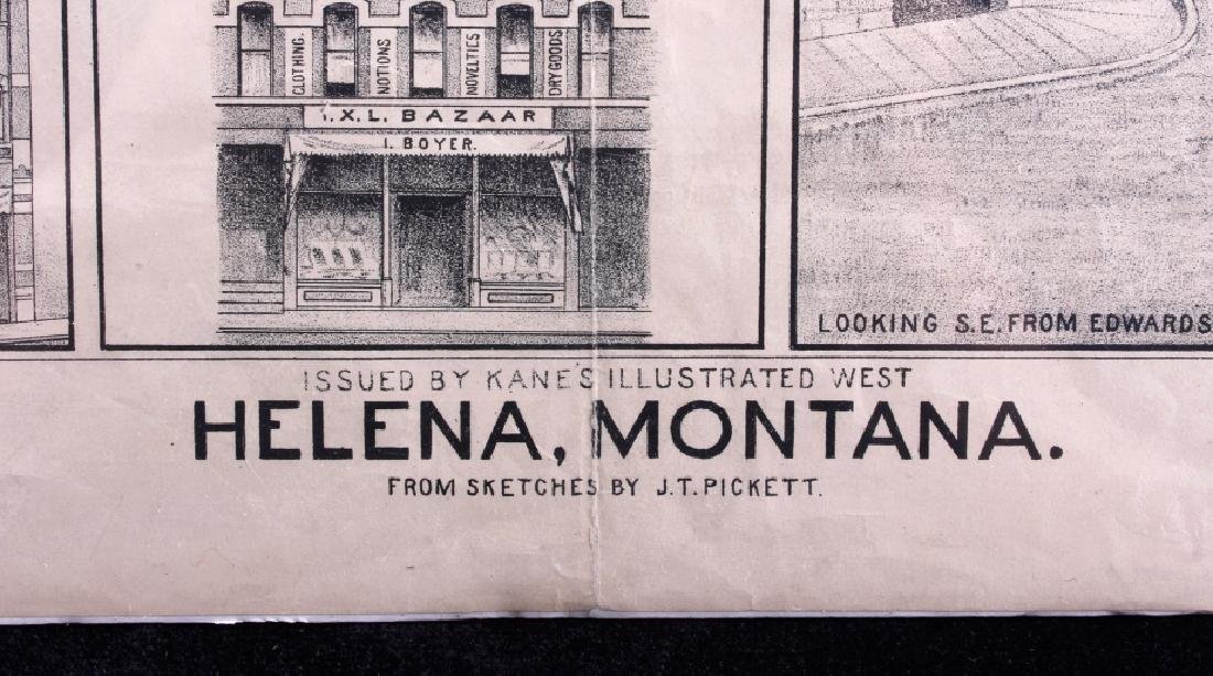 c.1890 Helena Montana Lithograph - 2