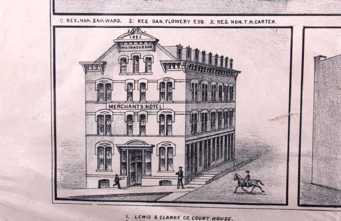 c.1890 Helena Montana Lithograph - 6